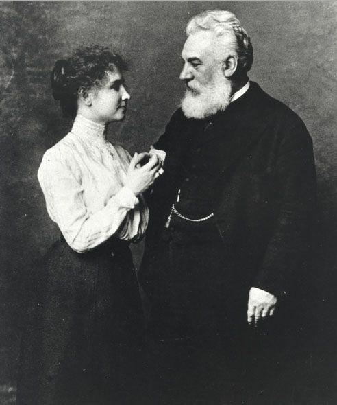 Helen Keller and Alexander Graham Bell - Helen Keller - Wikipedia ...