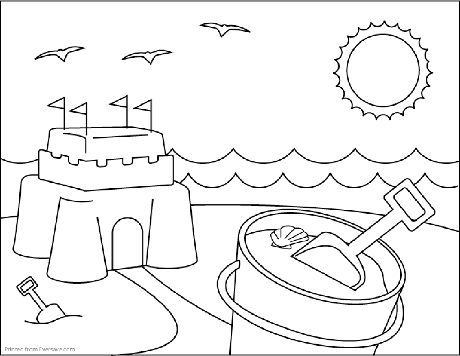 Summer Coloring Pages For Adults Free Large Images Summer