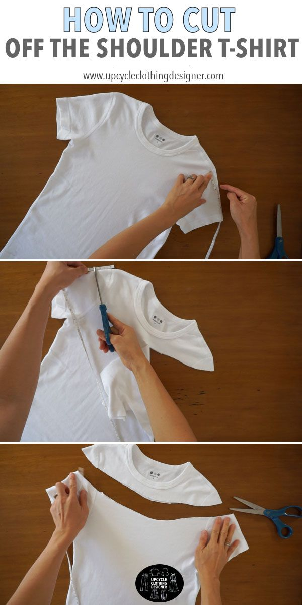 How To Cut Off The Shoulder T-Shirt -   15 diy Clothes no sewing ideas