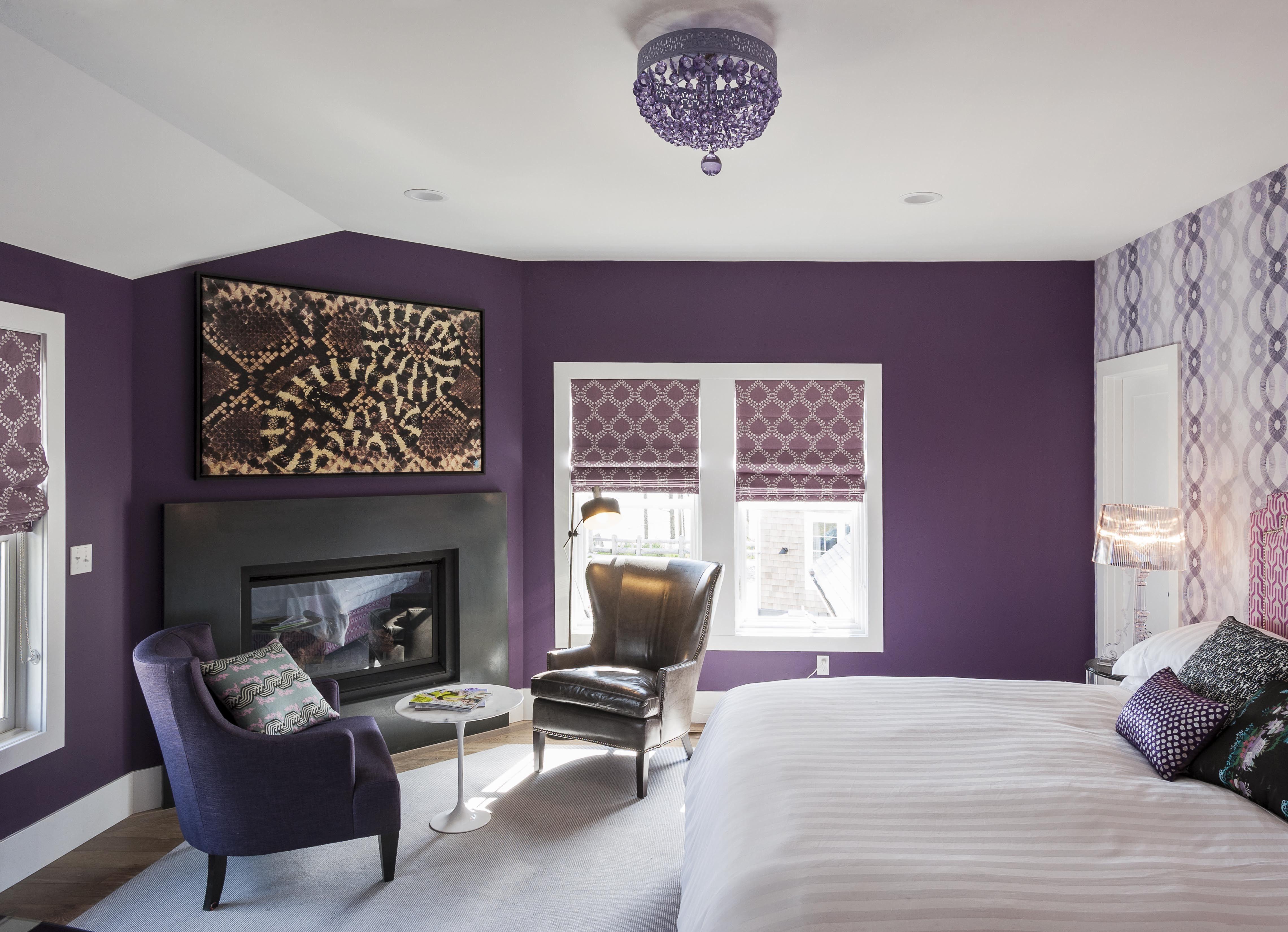 Paarse Accessoires Slaapkamer : Bedroom design tips from the novogratz in paarse