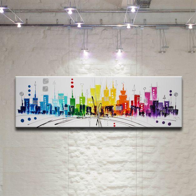 Peinture tableau oeuvre art abstrait sur toile jolie images art themes and - Toile imprimee abstrait ...