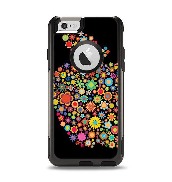 The Apple Icon Floral Collage Apple iPhone OtterBox Case