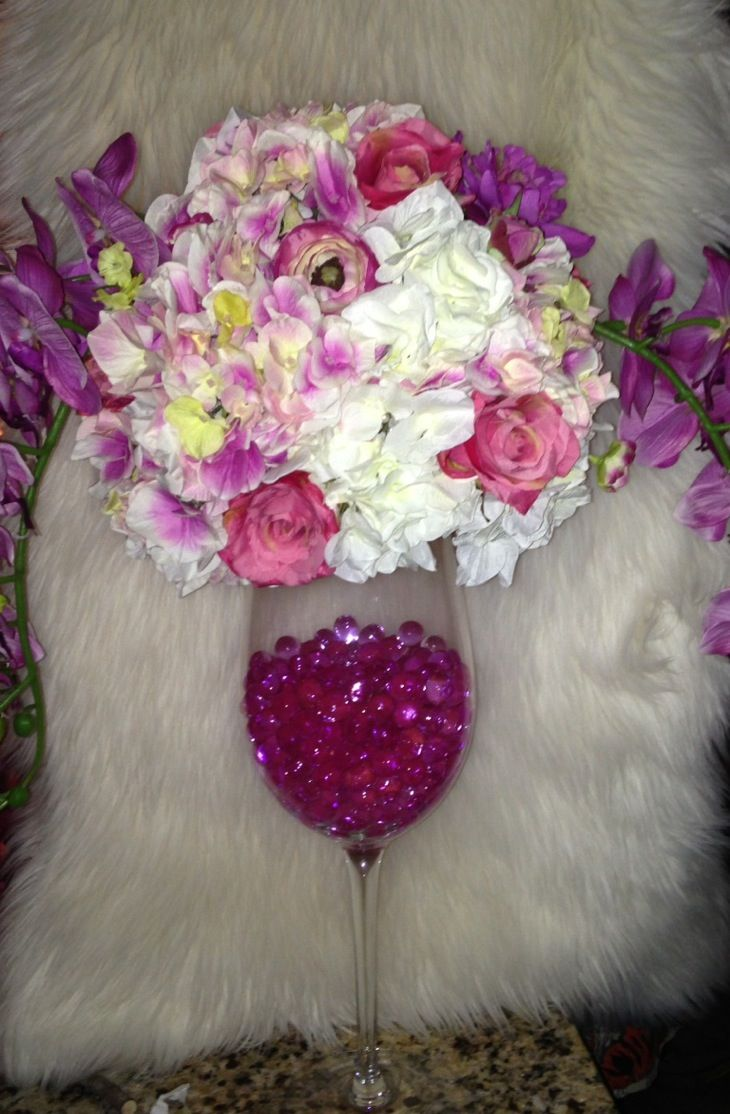a flower arrangement centerpiece for a a sweet sixteen party rh pinterest com