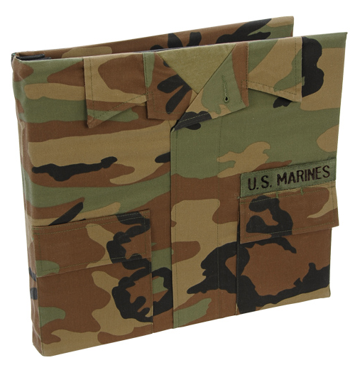 U.S. Marine Corps Battle Dress 12 x 12 postbound keepsake