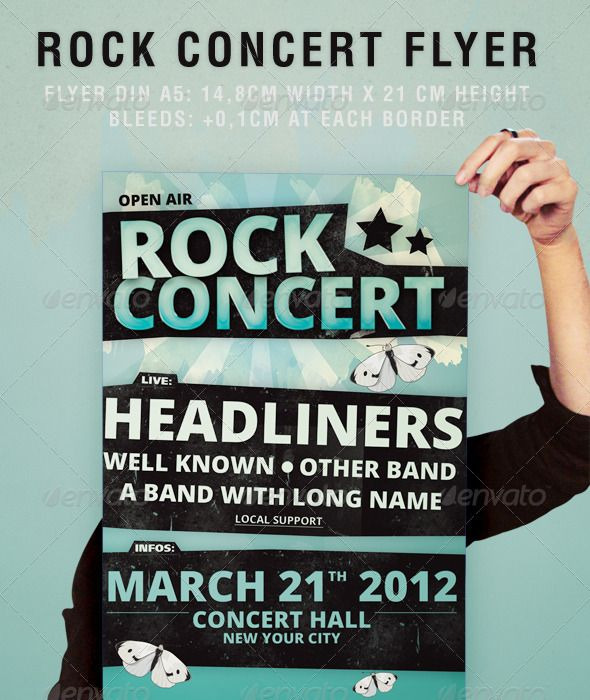 Rock Concert Flyer Concert flyer, Rock concert and Rock - flyer outline