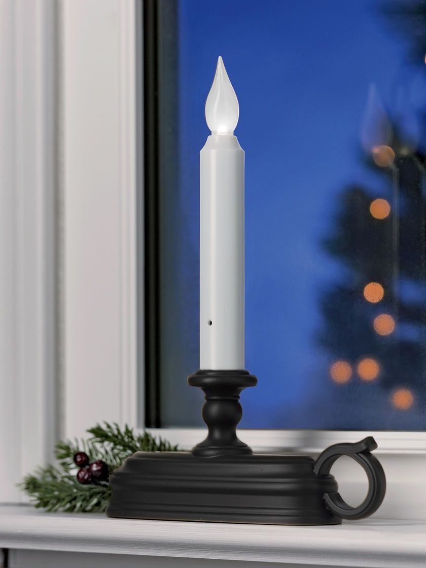 Colonial Window Candle Flame Effect Led Candle Gardeners Com Window Candles Window Candle Lights Led Christmas Lights