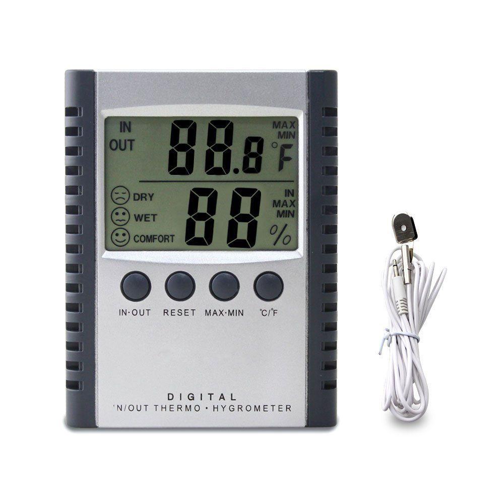 Afrimesure Vous Offre L Afficheur Numerique D Humidite Avec L Indicateur De Temperature Ce Thermo Hygrometer Outdoor Thermometer Temperature And Humidity