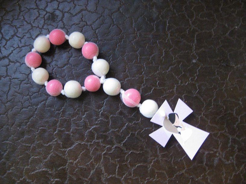 first communion favors - recuerdos - rosario de chicle ...