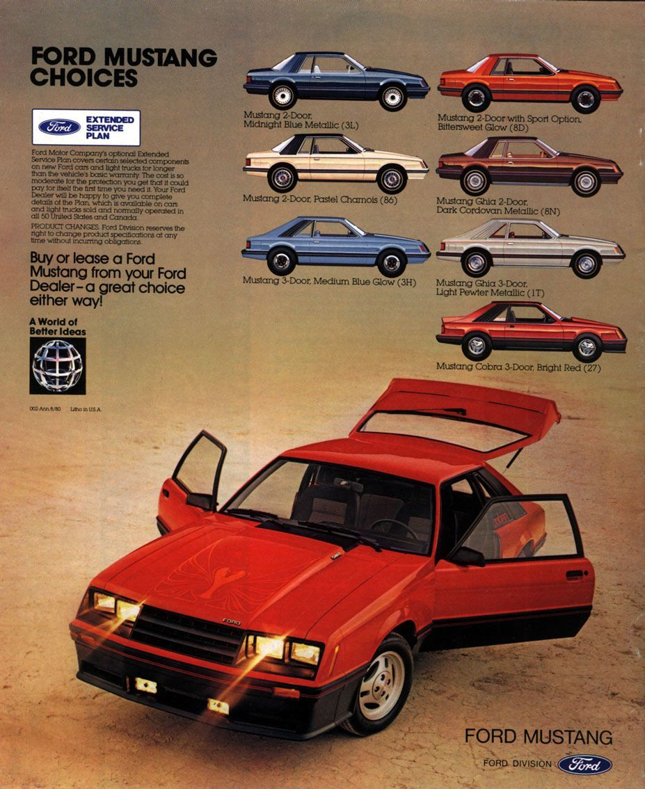 1981 Ford Mustang advertisement. Mustang, Ford mustang