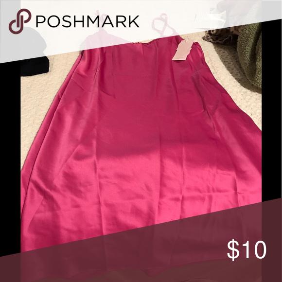 Satin gown Hot pink satin night gown Intimates & Sleepwear Pajamas
