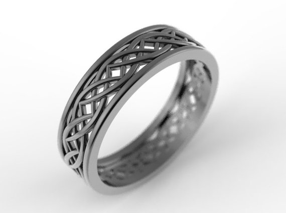 Celtic Wedding Sterling Silver Celtic Knot Ring Unique Wedding Band Wedding Band Men Made in Your Size 1195 Celtic Eternity Ring