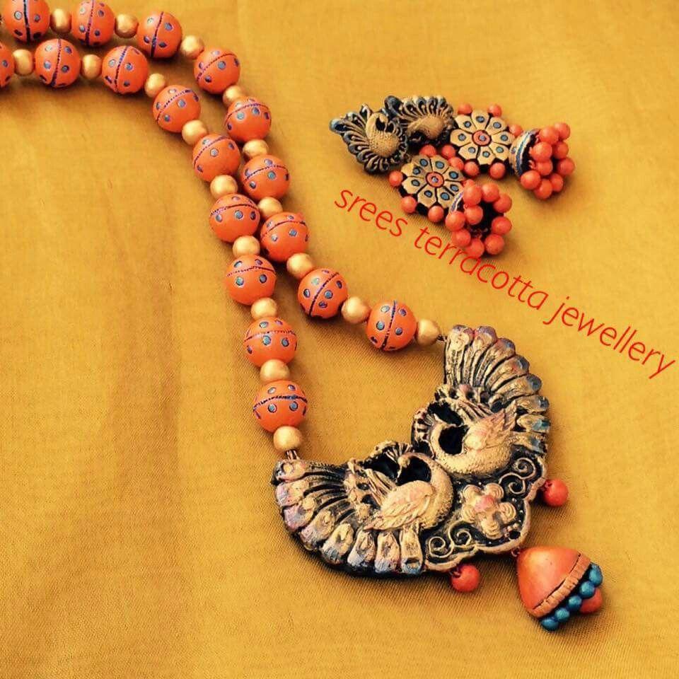 Srees terracotta jewelry Terracotta jewellery designs Pinterest