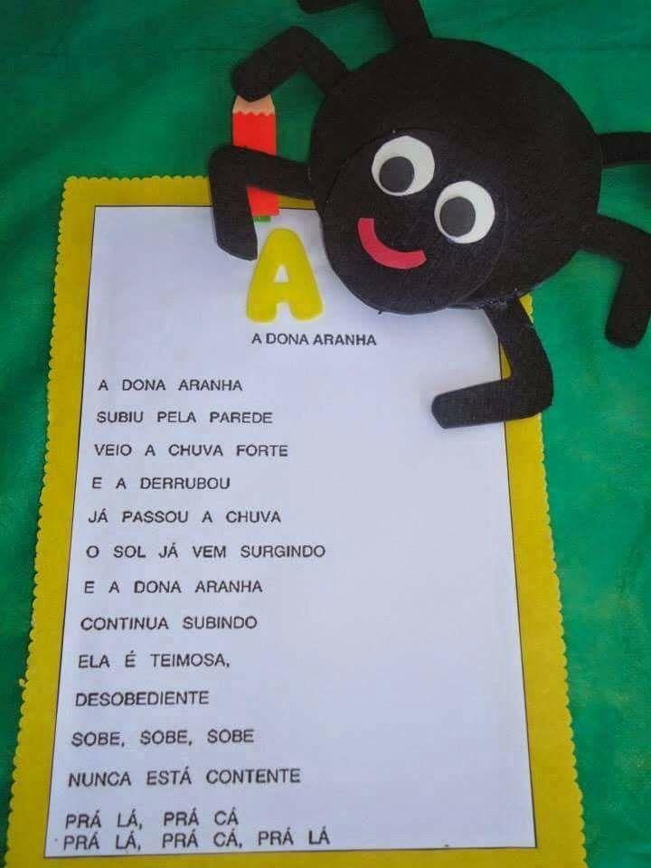 Aranha Com Imagens Projeto Musica Educacao Infantil Projeto