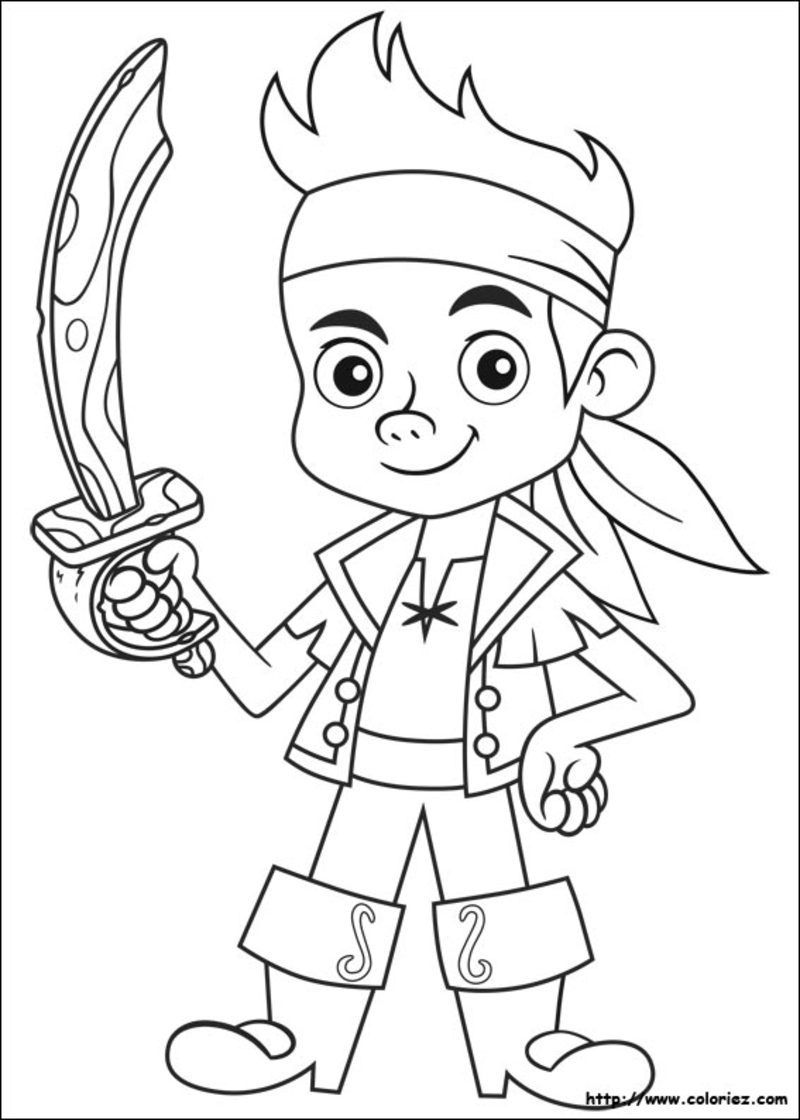 Coloriage pirates for my works pinterest - Coloriage fille pirate ...