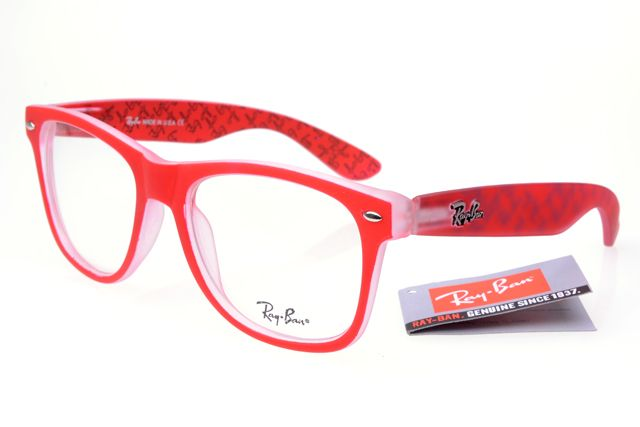 Best Ray Ban DX300 Red Pattern Frames Transparent Lens $14.87 ...