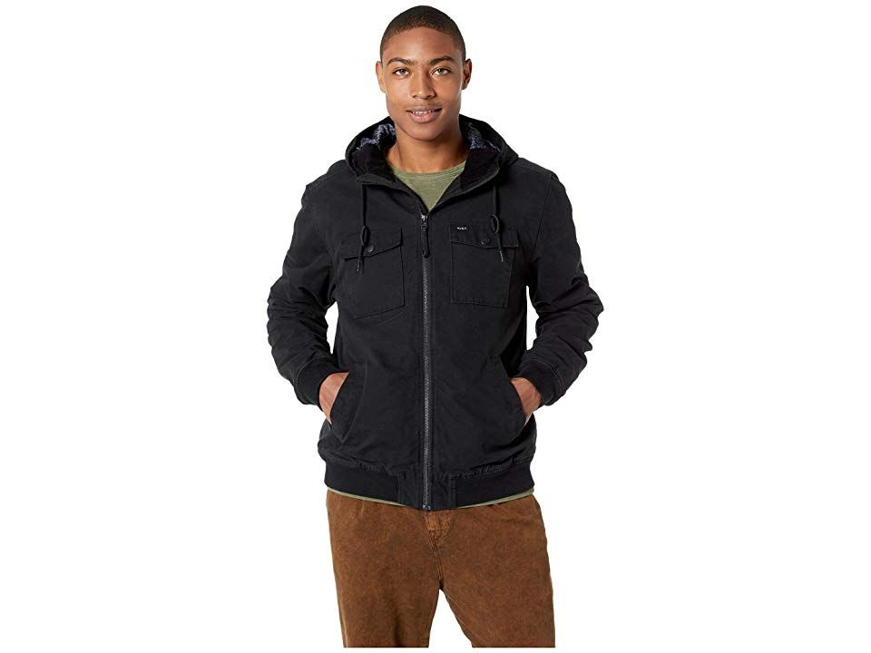 c96247bd2 RVCA Hooded Bomber II (RVCA Black) Men's Coat. Cold weather and ...