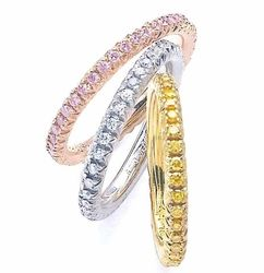 Ziamond Cubic Zirconia Jewelers features a wide selection of Eternity Bands, Anniversary Bands & Wedding Bands in your choice of 14k gold, 18k gold or platinum settings.  Ziamond offers the finest hand cut and hand polished original Russian formula cubic zirconia. #ziamond #cubiczirconia #cz #jewelry #eternity #band #wedding #ring #gold #platinum