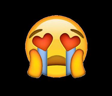 Heart Eye Crying Emoji Same