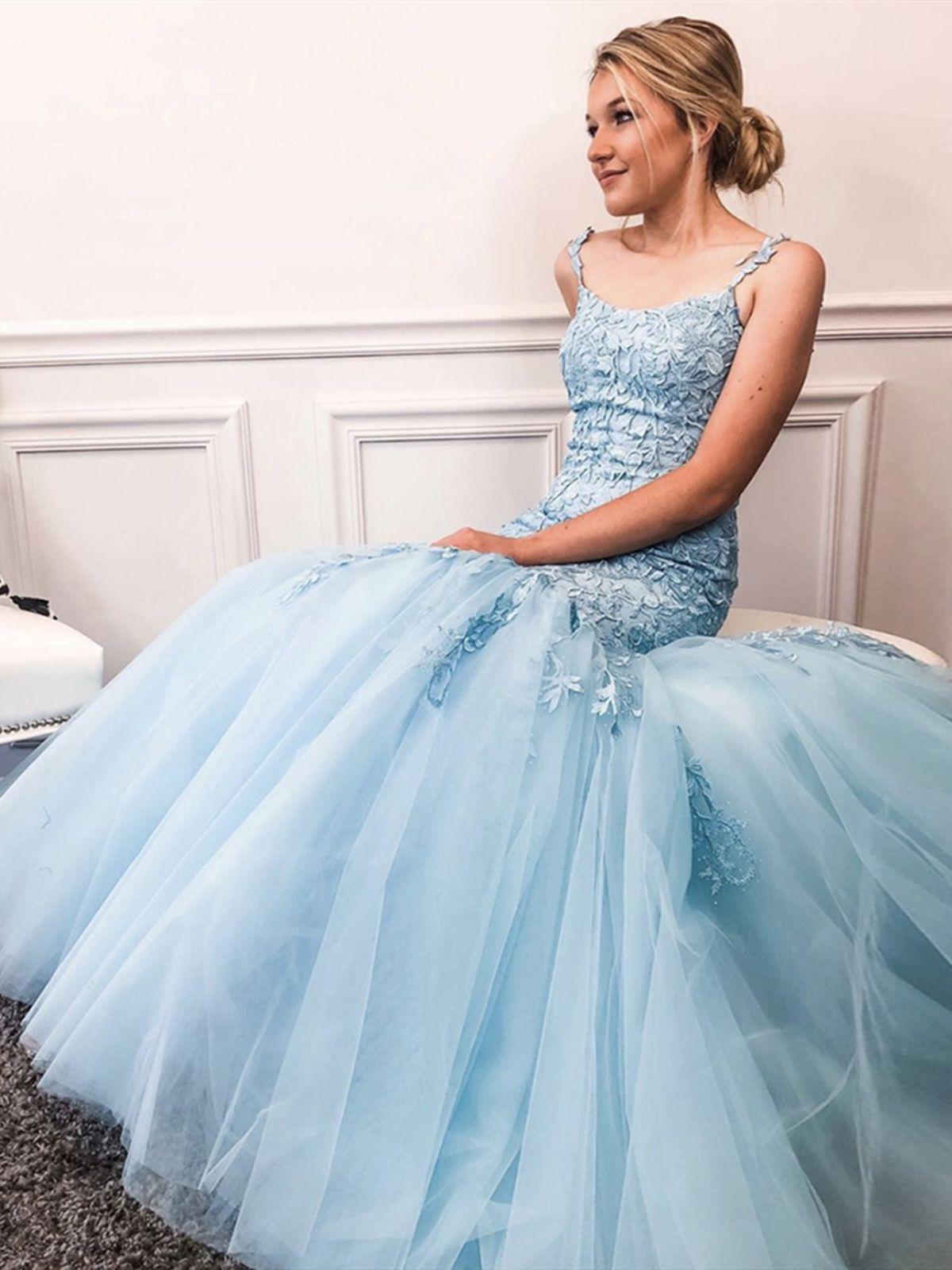 Sky Blue Mermaid Lace Prom Dresses Blue Mermaid Lace Formal Evening Dresses Blue Dress Formal Lilac Prom Dresses Light Blue Dress Formal [ 1600 x 1200 Pixel ]