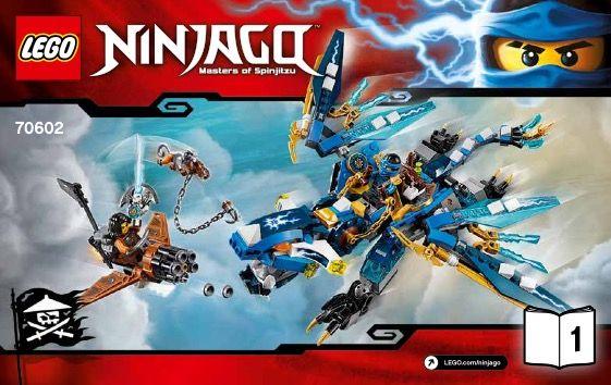 View Lego Instructions For Jays Elemental Dragon Set Number 70602