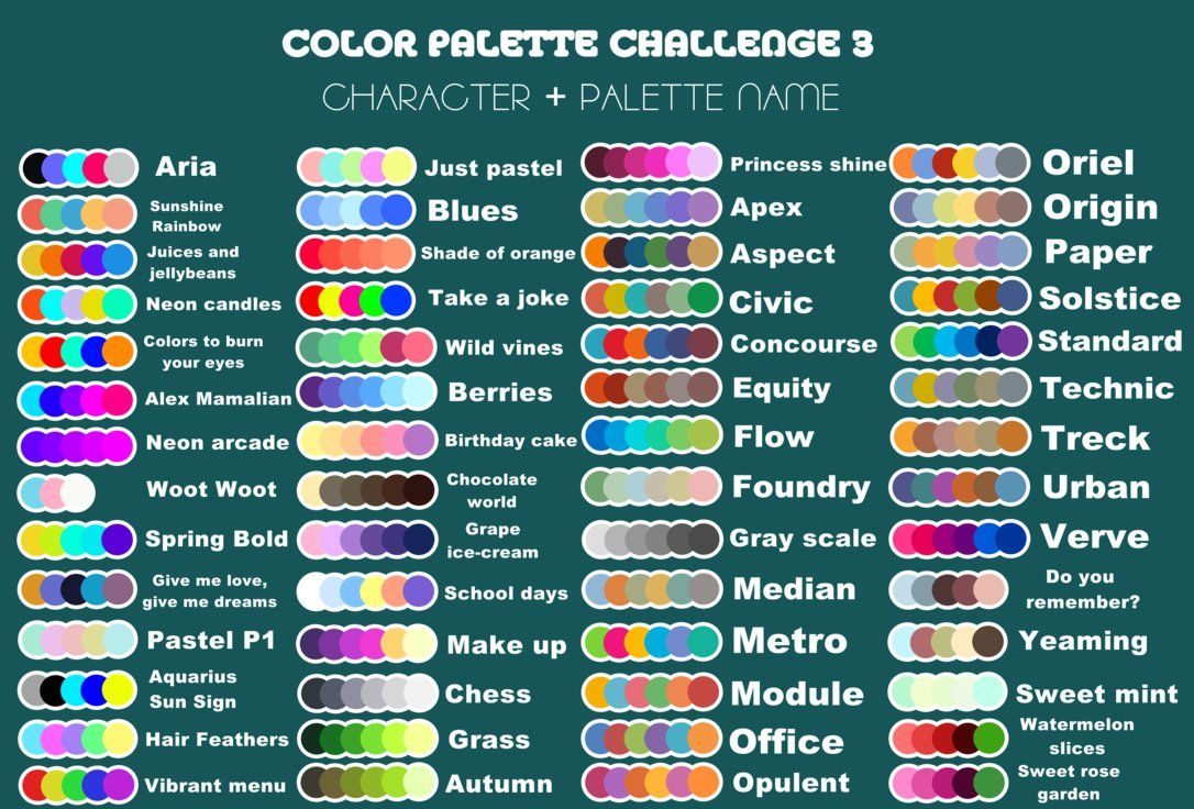Rules We Will Back To The First Color Palette Challenge Why Cuz