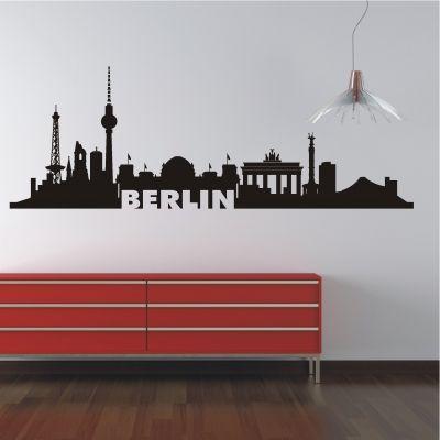 Deko Shop 24de Wandtattoo Skyline Berlin