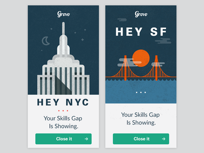 Grovo banner ads by Alex Collins | Dribbble