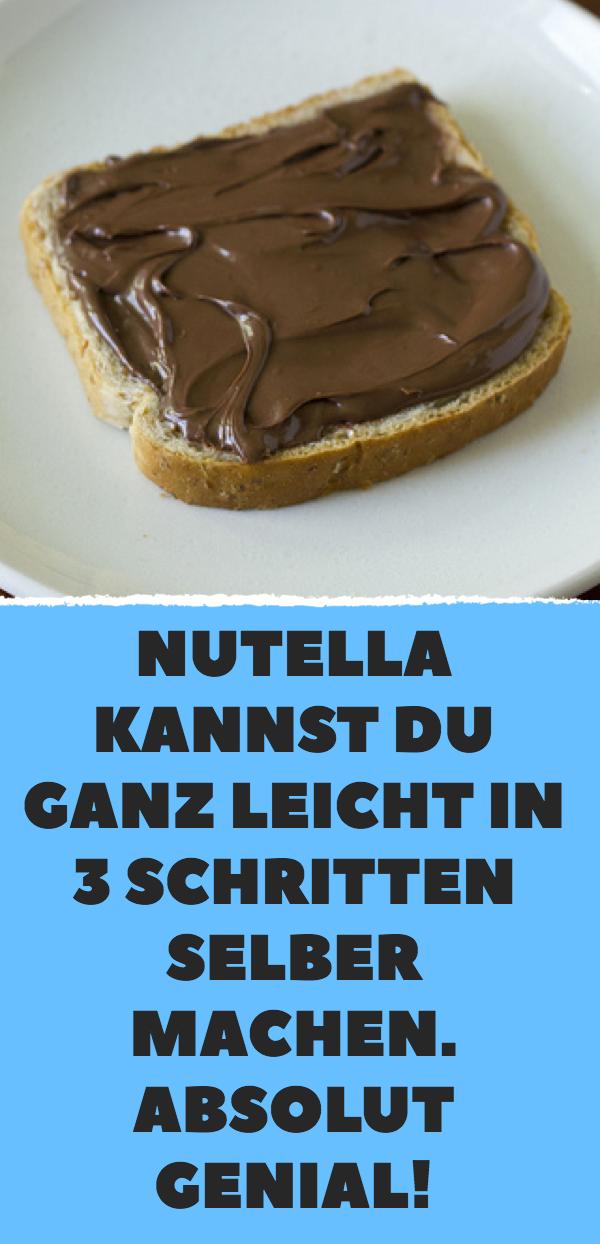 Nutella kannst du ganz leicht in 3 Schritten selber machen. Absolut genial!