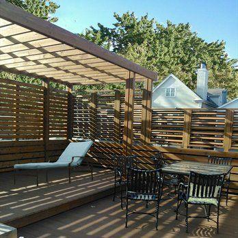 garage roof deck steel pergola with kona stain - Yelp