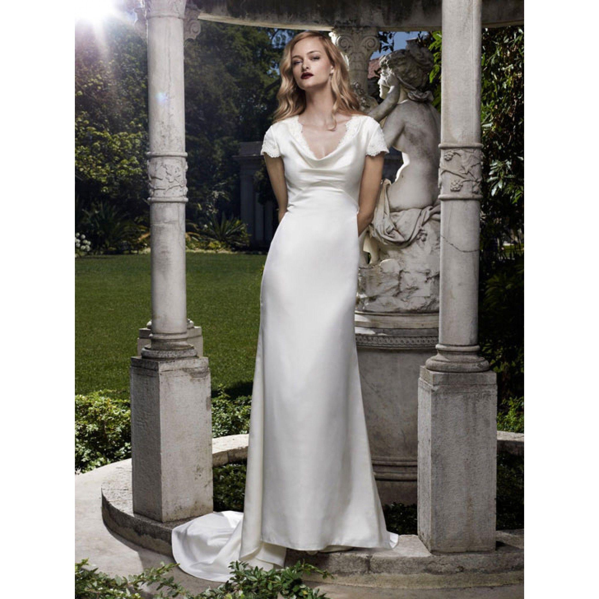 Casablanca 2070 cowl neck wedding dress casablanca