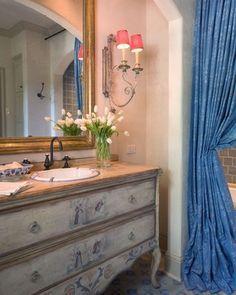 Französisch Land Badezimmer, Französisch Badezimmer, Land Französisch,  Französisch Stil, Landhäuser, Französisch Land Dekoration, Insel, Möbel,  Innere