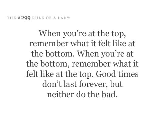 Remember the top and the bottom