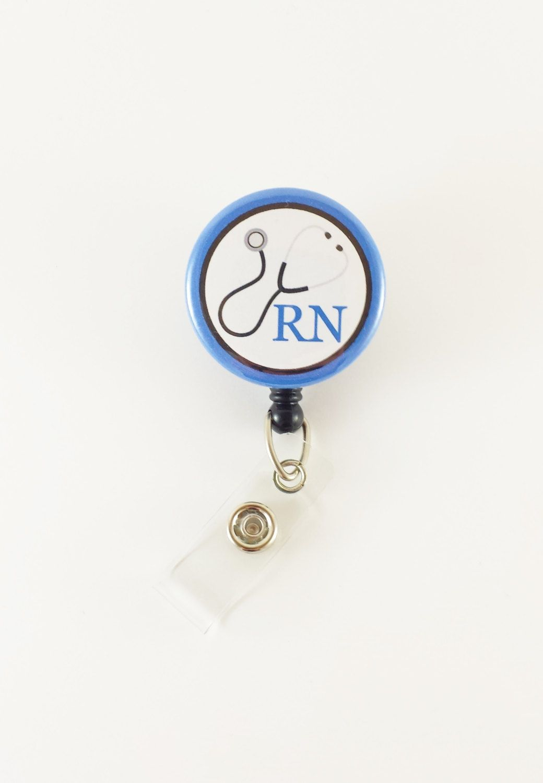 Registered Nurse - Medical Badge Reel - Retractable ID Badge - Name