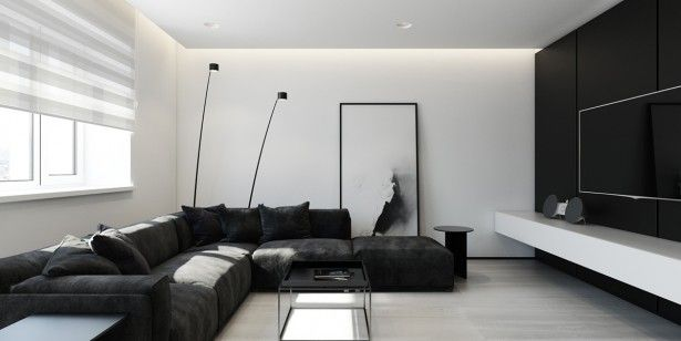 New Black and White Interior Design Bedroom 2