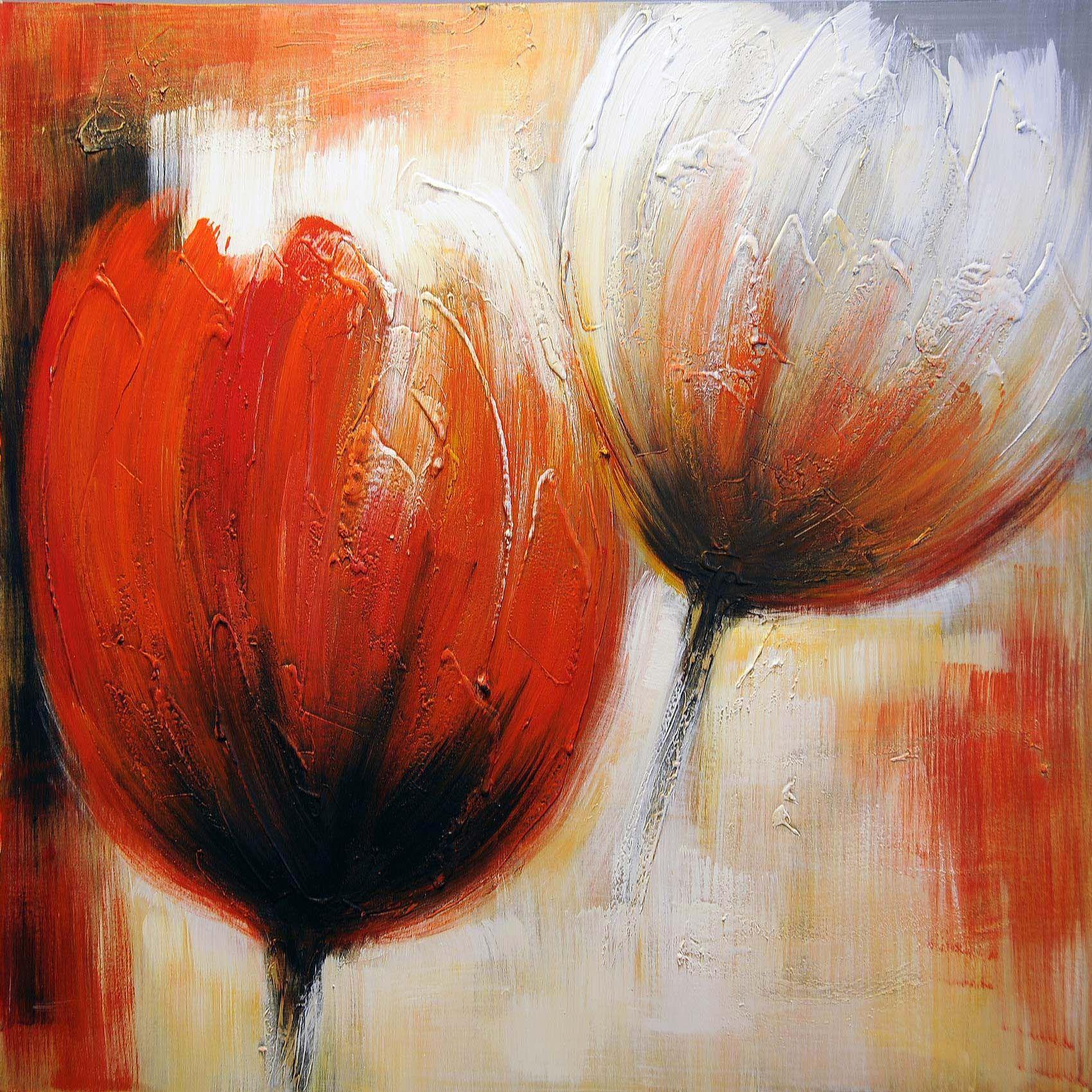 acryl schilderijen | bloemen schilderij 80cmx120cm 45011hh9860