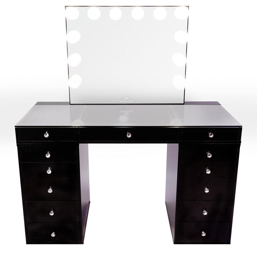 Best Slaystation® Plus 2 Tabletop Vanity Mirror 5 Drawer 640 x 480