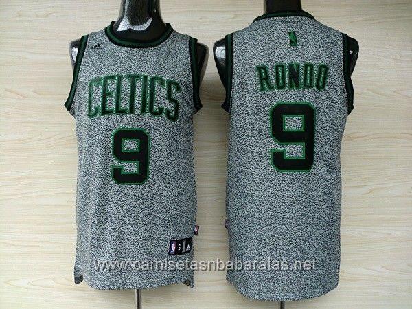 camisetas nba boston celtics gris 9 rondo 23.99