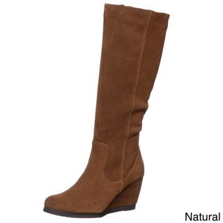 @Overstock - Stride in style with these fashionable wedge boots from Sam & Libby. A synthetic leather and 3-inch wedge highlight these stylish boots.   http://www.overstock.com/Clothing-Shoes/Sam-Libby-Womens-Mythic-Tall-Wedge-Boots/6781059/product.html?CID=214117 $63.99