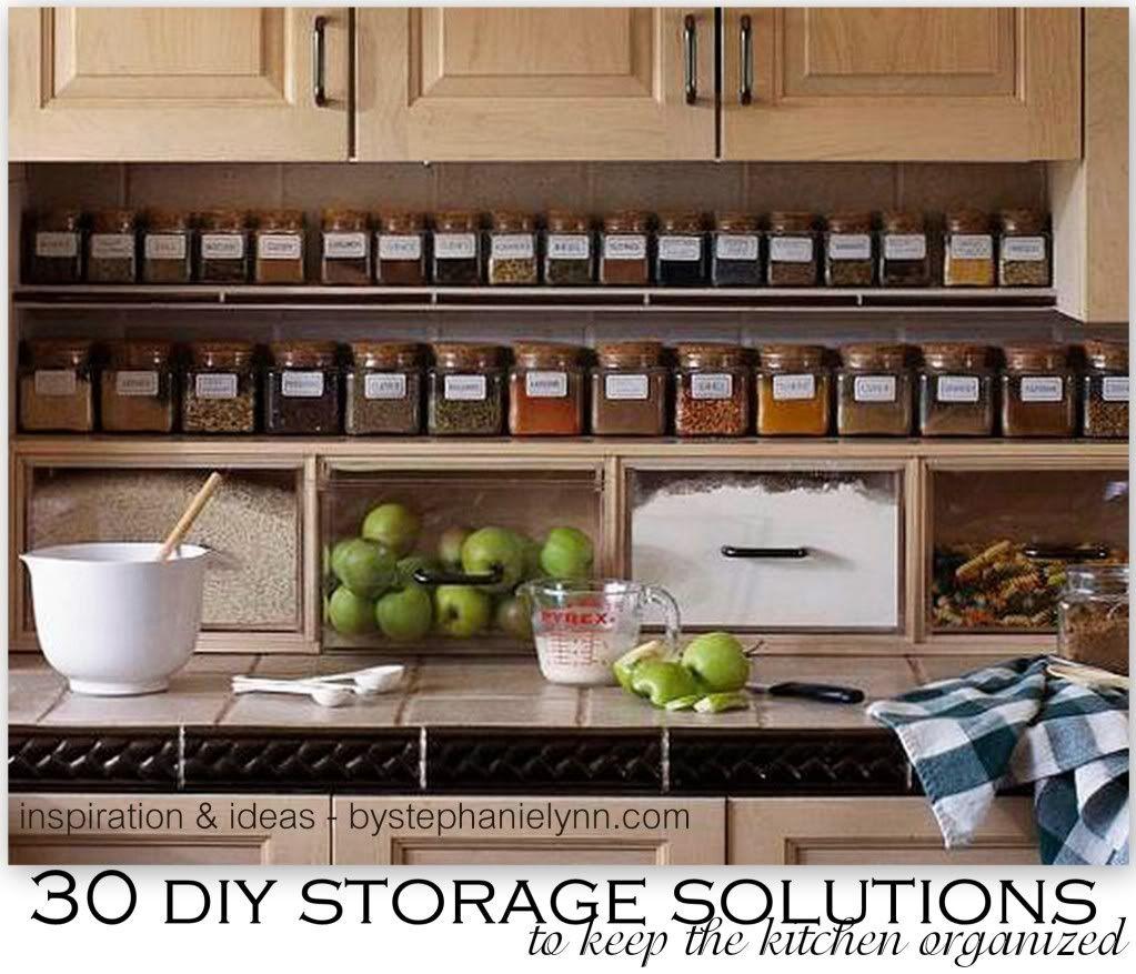 Gestalten sie ihre küche  diy storage solutions to keep the kitchen organized saturday