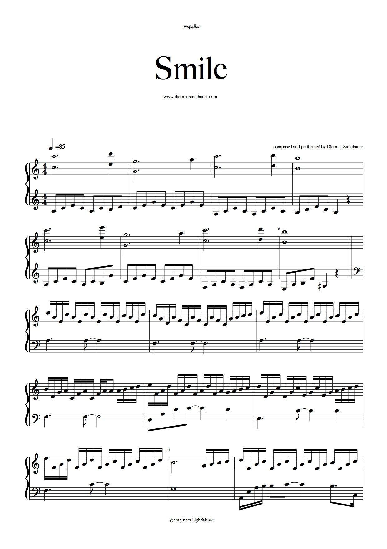 Smile Con Imagenes Partituras Musica