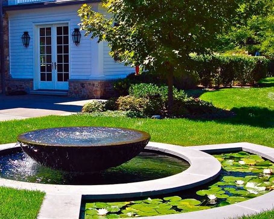 Garden And Lawn , Tranquil Outdoor Water Fountains : Large Bowl Outdoor  Water Fountains