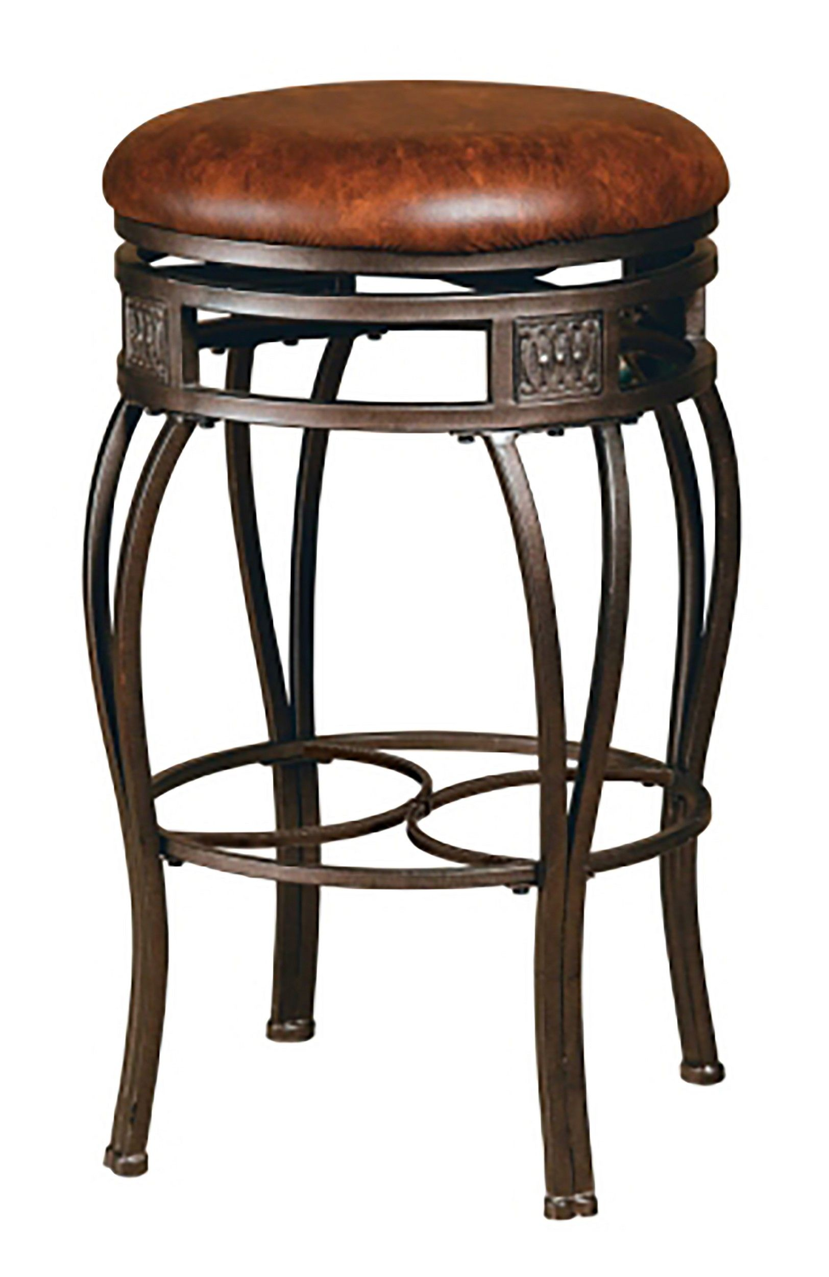 Hillsdale Montello Old Steel Backless Swivel Counter Stool
