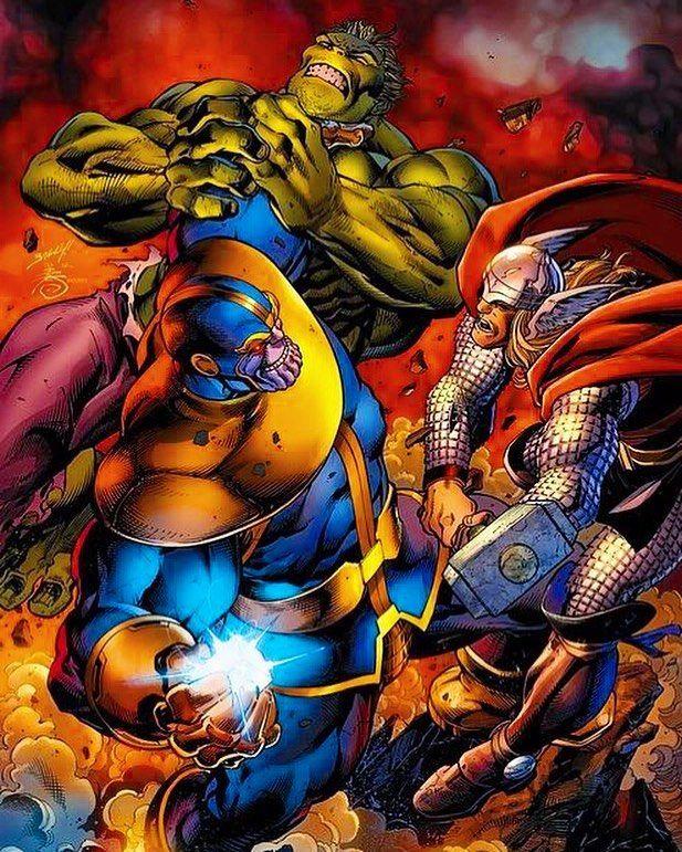 Thanos Thor & Hulk #thanos #hulk #thor #marvel #comiccon # ...