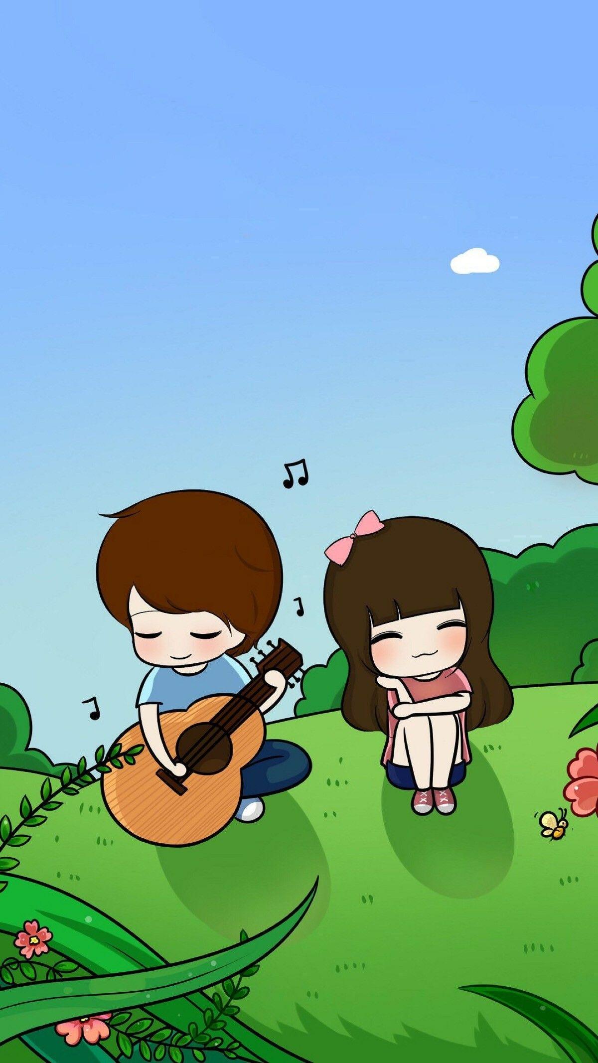 Idea by ROSE on Cartoon Cute love cartoons, Couple