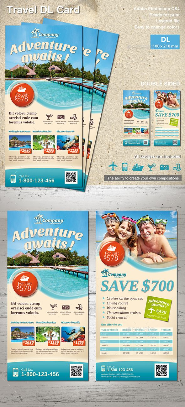 Travel Dl Flyer Flyer Template Template And Flyer Printing