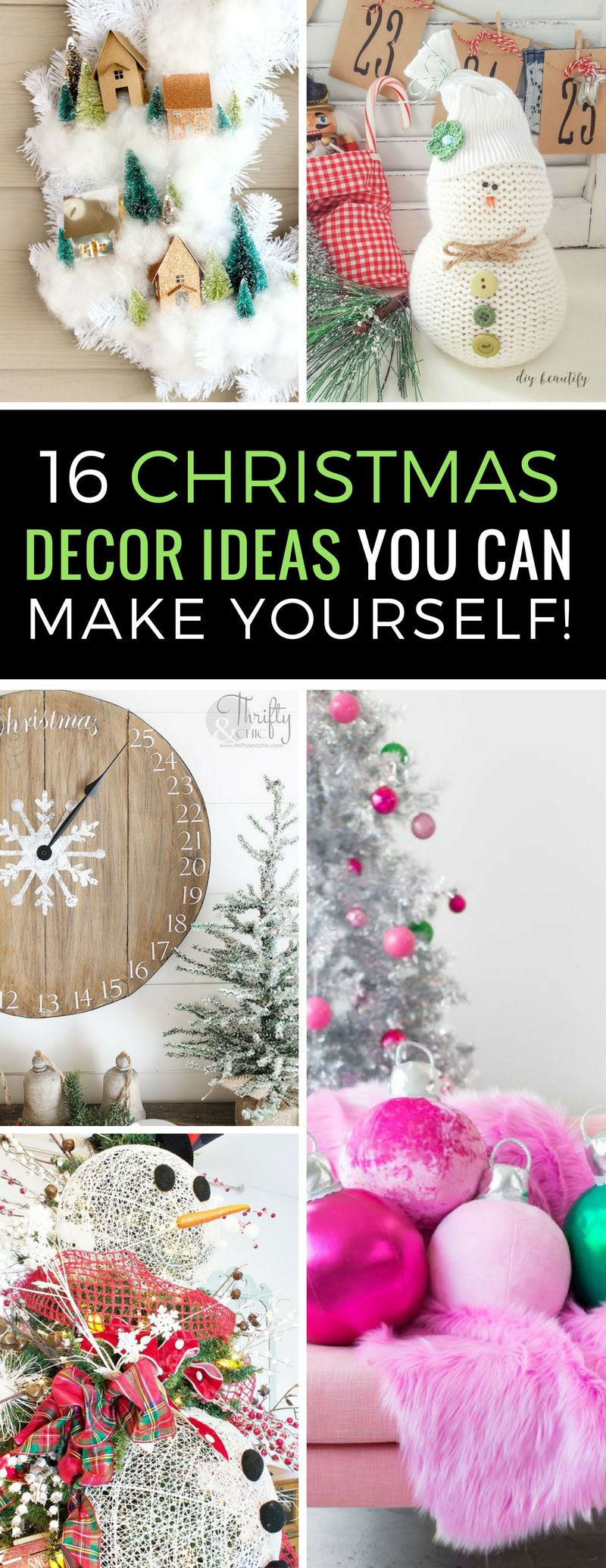 16 totally unusual diy christmas decor ideas that are easier to make want to festive up your home this christmas with items you can make yourself these solutioingenieria Images
