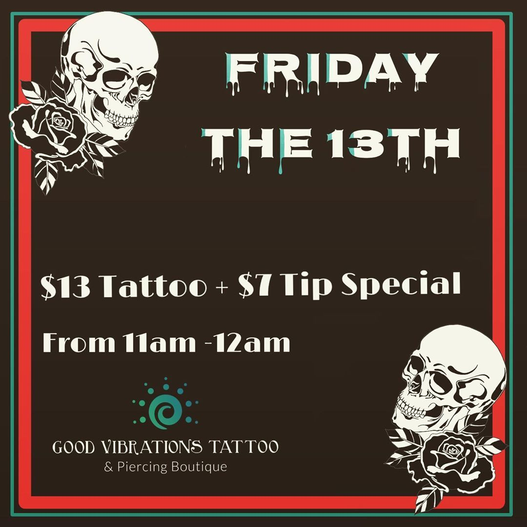 FRIDAY THE 13TH FLASH IS OUT!!!!!!!! 13 Tattoo 7 tip for