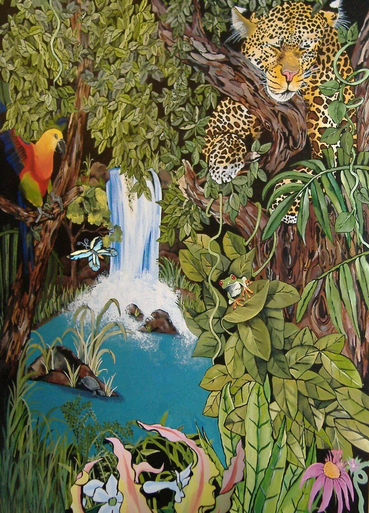 Jungle Mural Murals Rainforest Animals Art Forest Mural