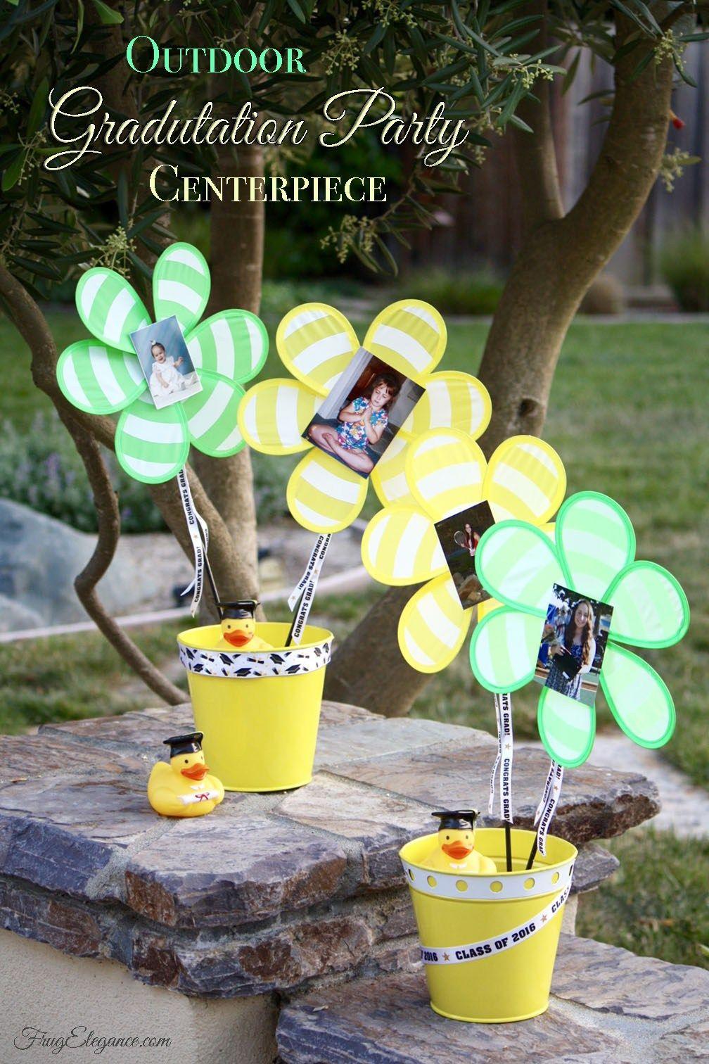 outdoor graduation party centerpieces frugelegance celebrations