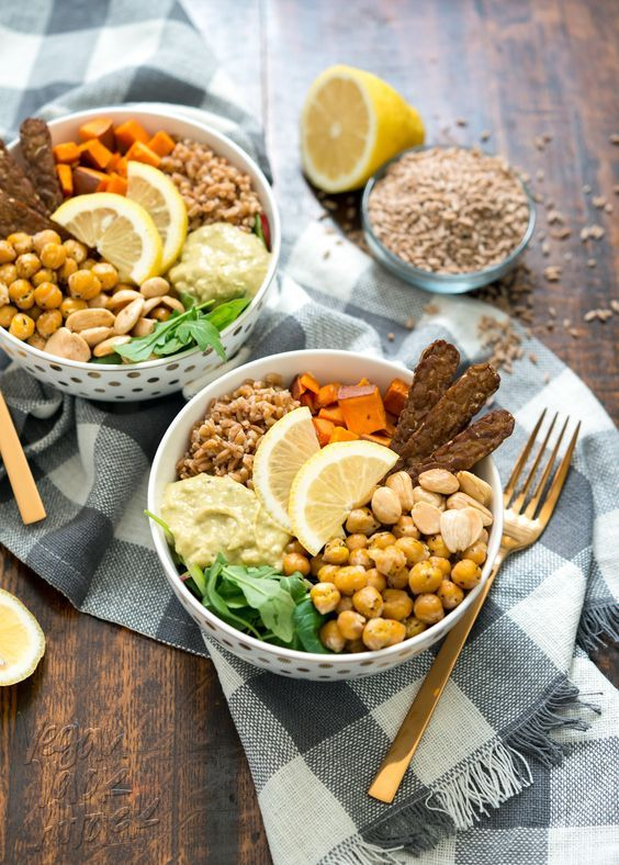 Vegan Fall Farro Protein Bowl